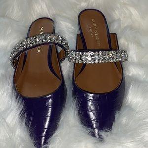 Kurt Geiger London Embellished Purple Mules size 9